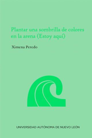 Plantar una sombrilla de colores en la arena (Estoy aquí)